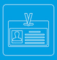 identification card icon outline vector image vector image