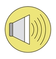 Isolated volume icon vector image vector image