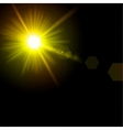 Light flare yellow effect vector image vector image