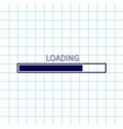 loading progress status bar icon web design app vector image