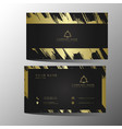 luxury and elegant black gold business cards vector image vector image