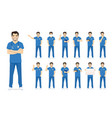 male nurse character set vector image vector image