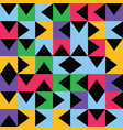 multicolored geometric truchet pattern background vector image vector image