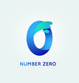 number zero in trend shape style vector image