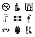 personal care icons set simple style vector image vector image