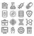 pills and medical drugs icons set vector image