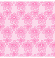 Pink seamless flower lace pattern vector image vector image