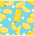 popsicles ice-cream seamless pattern background vector image vector image