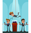 professional thief in action vector image vector image