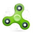 realistic green fidget spinner with highlights vector image vector image