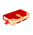red book with golden corners and safe lock vector image vector image