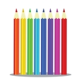 Set of Coloured pencils - on white vector image vector image