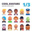 Set of cool flat avatars vector image vector image