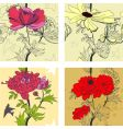 set of floral seamless border vector image