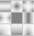 Set of nine square pattern designs vector image vector image