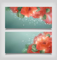 Shining Flowers Roses Banner vector image