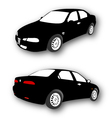 Silhouettes of Car black vector image