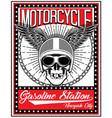 skull motorcycle helmet t shirt graphic design vector image vector image