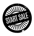 start sale rubber stamp vector image vector image