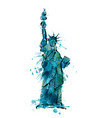 statue of liberty in new york made of colorful vector image
