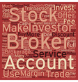 Stock Brokers text background wordcloud concept vector image vector image