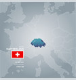 switzerland information map vector image vector image