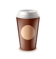 Take away coffee isolated vector image vector image