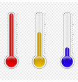 temperature thermometer vector image vector image