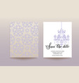 template wedding card vector image vector image