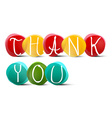 Thank You Slogan - Title in Colorful Circles on vector image vector image