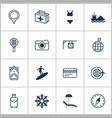 tourism icons set with visited country tanker vector image