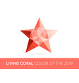 trendy crystal triangulated gem sign element in vector image