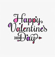valentines day vintage card lettering background vector image vector image