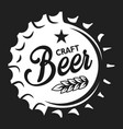 vintage craft beer monochrome logotype template vector image vector image