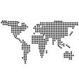 dots earth vector image