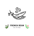 french bean icon vegetables logo thin line vector image