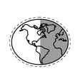 globe world earth connection technology line vector image