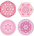 Indian ornaments kaleidoscopic floral pattern vector image