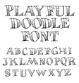 Sketchy Font vector image