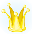 cartoon golden crown vector image