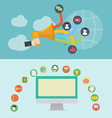 Element of social media icon in flat design vector image