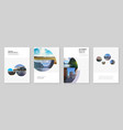 a4 brochure layout covers design templates for vector image vector image