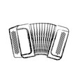 accordion music instrument vector image vector image