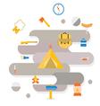 Adventure Camping icon vector image
