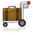 airport cart vector image vector image