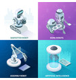 artificial intelligence isometric design concept vector image vector image