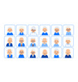 avatars elderly people of heads of pensioner in vector image vector image