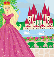 beautiful princess in the garden vector image vector image