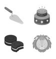 building cooking and other monochrome icon in vector image vector image