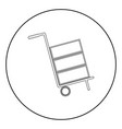 cart delivery or shipment icon the black color vector image